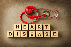 Heart Disease Spelled out in Blocks